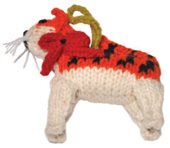 Chilly Dog Orange Tabby Cat Handmade Knit Cat Christmas Tree Ornament-Paws & Purrs Barkery & Boutique
