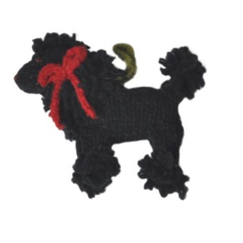 Chilly Dog Black Poodle Handmade Knit Dog Christmas Tree Ornament-Paws & Purrs Barkery & Boutique