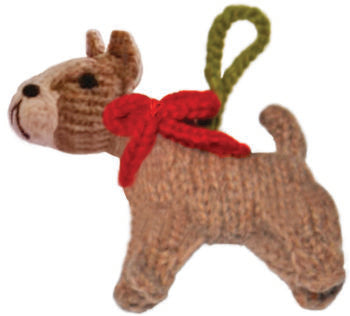 Chilly Dog Pitbull Handmade Knit Dog Christmas Tree Ornament-Paws & Purrs Barkery & Boutique