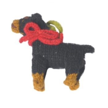 Chilly Dog Rottweiler Handmade Knit Dog Christmas Tree Ornament-Paws & Purrs Barkery & Boutique