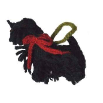 Chilly Dog Scottish Terrier Scottie Dog Handmade Knit Dog Christmas Tree Ornament-Paws & Purrs Barkery & Boutique