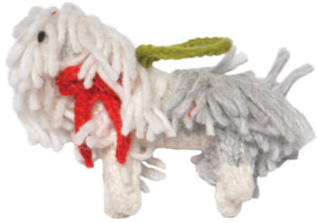 Chilly Dog Sheepdog Handmade Knit Dog Christmas Tree Ornament-Paws & Purrs Barkery & Boutique