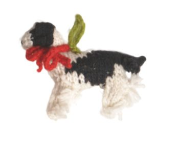 Chilly Dog Spaniel Handmade Knit Dog Christmas Tree Ornament-Paws & Purrs Barkery & Boutique