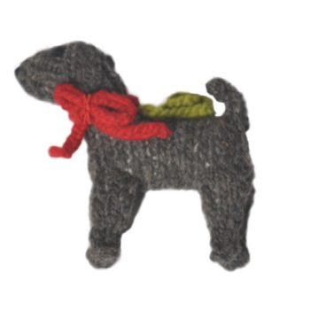 Chilly Dog Weimaraner Handmade Knit Dog Christmas Tree Ornament-Paws & Purrs Barkery & Boutique