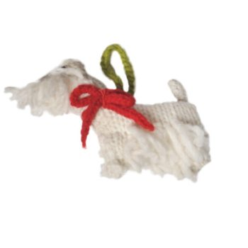 Chilly Dog West Highland White Westie Handmade Knit Dog Christmas Tree Ornament-Paws & Purrs Barkery & Boutique