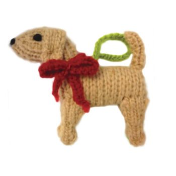 Chilly Dog Yellow Lab Handmade Knit Dog Christmas Tree Ornament-Paws & Purrs Barkery & Boutique