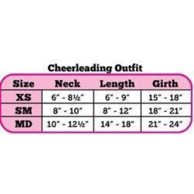 Carolina Panthers Cheerleader Size Chart-Paws & Purrs Barkery & Boutique