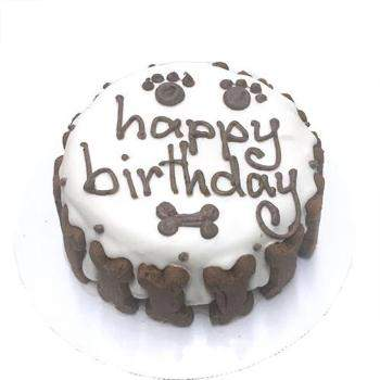 Bubba Rose Classic Dog Organic Birthday Cake - White-Paws & Purrs Barkery & Boutique