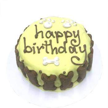 Bubba Rose Classic Dog Organic Birthday Cake - Yellow-Paws & Purrs Barkery & Boutique