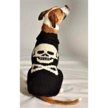 Chilly Dog Black Skull Dog Sweater-Paws & Purrs Barkery & Boutique