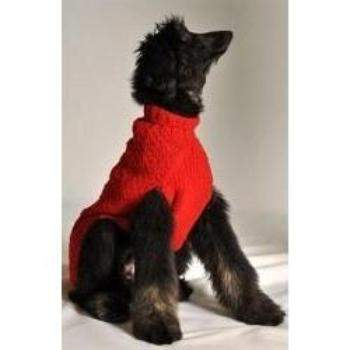 Chilly Dog Red Cable Knit Dog Sweater-Paws & Purrs Barkery & Boutique