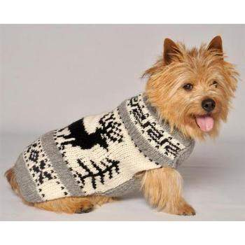 Chilly Dog Reindeer Shawl Dog Sweater-Paws & Purrs Barkery & Boutique