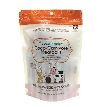 CocoTherapy Coco-Carnivore Freeze Dried Meatballs Dog & Cat Treats – Beef, Orange & Coconut-Paws & Purrs Barkery & Boutique