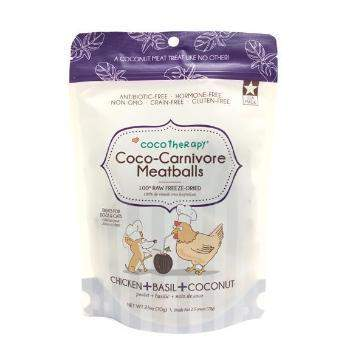 CocoTherapy Coco-Carnivore Freeze Dried Meatballs Dog & Cat Treats – Chicken, Basil & Coconut-Paws & Purrs Barkery & Boutique