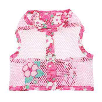 Doggie Design Hawaiian Hibiscus Pink Cool Mesh Dog Harness-Paws & Purrs Barkery & Boutique