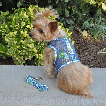 Doggie Design Surfboard Blue & Green Cool Mesh Dog Harness-Paws & Purrs Barkery & Boutique