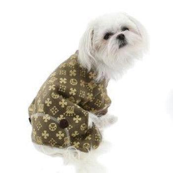 Crown Dog Pajamas - Brown
