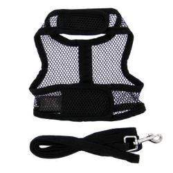 Doggie Design Solid Black Cool Mesh Dog Harness-Paws & Purrs Barkery & Boutique