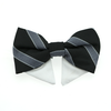 Doggie Design Universal Black & Silver Stripe Dog Bow Tie-Paws & Purrs Barkery & Boutique