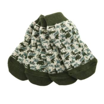 Doggie Design Green Camo Non-Skid Dog Socks- Paws & Purrs Barkery & Boutique