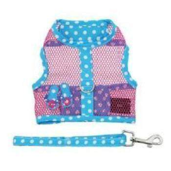Doggie Design Cool Mesh Dog Harness Under the Sea Collection - Pink and Blue Flip Flops-Paws & Purrs Barkery & Boutique