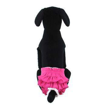 Doggie Design Ruffled Solid Pink Dog Sanitary Panties-Paws & Purrs Barkery & Boutique
