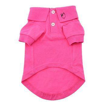 Doggie Design Raspberry Sorbet Solid Dog Polo Shirt-Paws & Purrs Barkery & Boutique