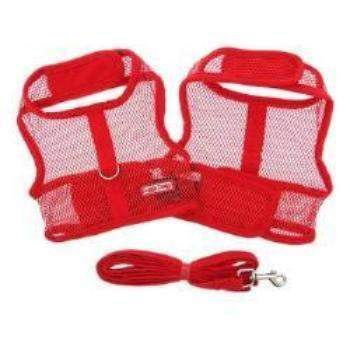 Doggie Design Solid Red Cool Mesh Dog Harness-Paws & Purrs Barkery & Boutique