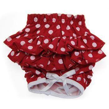 Doggie Design Ruffled Red Polka Dot Dog Sanitary Panties-Paws & Purrs Barkery & Boutique