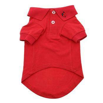 Doggie Design Solid Dog Polo Shirt-Flame Scarlet Red-Paws & Purrs Barkery & Boutique