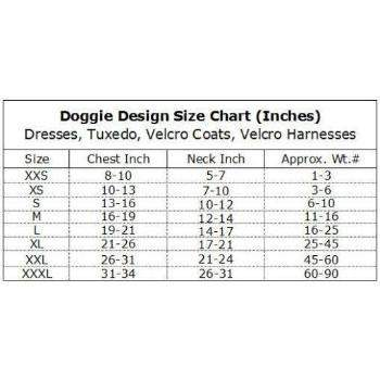 Doggie Design Size Chart-Paws & Purrs Barkery & Boutique