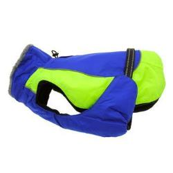Doggie Design Alpine All Weather Coat-Blue and Green-Paws & Purrs Barkery & Boutique