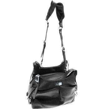 Sadie Mia Michele Black Faux Pebble Leather Carry Bag (Airline Approved)