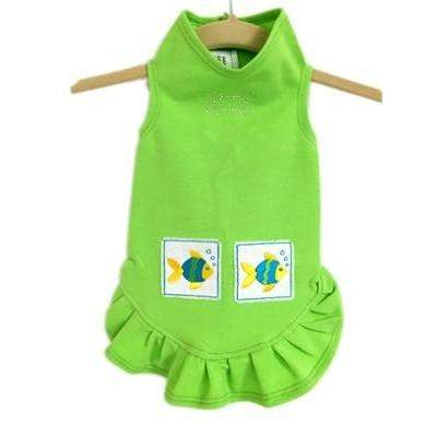 Daisy & Lucy Tropical Fish Flounce Dog Dress-Paws & Purrs Barkery & Boutique