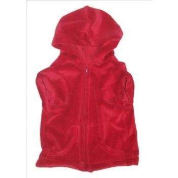 Dog Squad Red Velour Front Zip Dog Hoodie-Paws & Purrs Barkery & Boutique