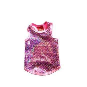 The Dog Squad Malibu Pink Sequin Dog Tank-Paws & Purrs Barkery & Boutique