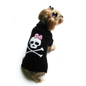 Dallas Dogs Pink Jolly Roger Skull Dog Sweater-Paws & Purrs Barkery & Boutique