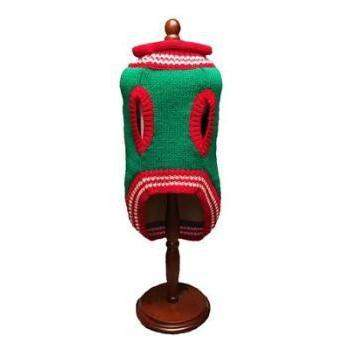 Dallas Dogs Rudolf Green Knitted Dog Sweater-Paws & Purrs Barkery & Boutique