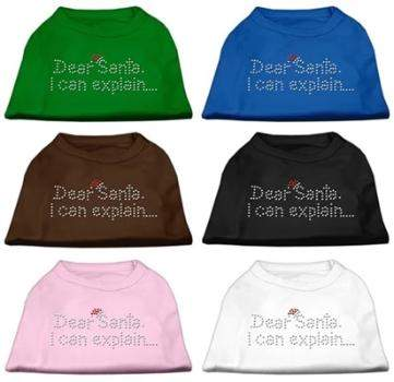 Mirage Pet Products Dear Santa I Can Explain Dog Shirt-Paws & Purrs Barkery & Boutique