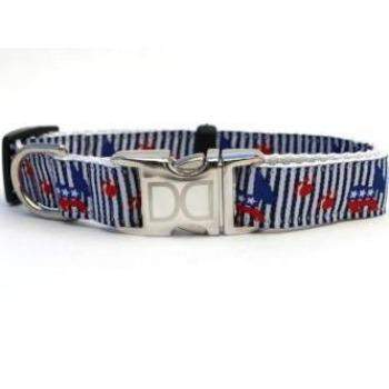 Democrat Doggie Collar - All Metal Buckles