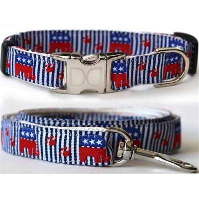 Grand Old Pooch Collar Republican Dog Collar