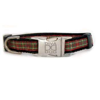 Diva Dog Alpine Plaid Small & Teacup Dog Collar & Leash Set-Paws & Purrs Barkery & Boutique
