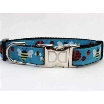 Diva Dog Ladybugs & Bumble Bees Dog Collar with All Metal Buckles-Paws & Purrs Barkery & Boutique