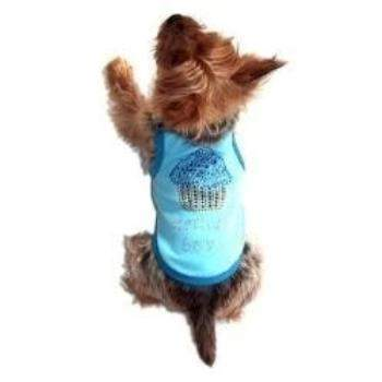 Dog Squad Blue Birthday Cupcake Dog Tee-Paws & Purrs Barkery & Boutique