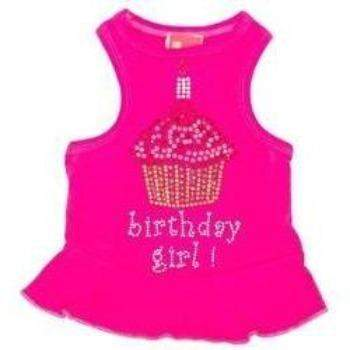 Dog Squad Bubblegum Birthday Cupcake Dog Dress | Paws & Purrs Barkery & Boutique
