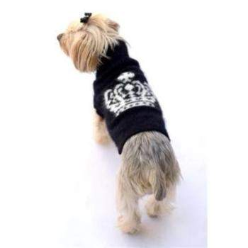 Dog Squad Diana Crown Angora Blend Black Dog Sweater-Paws & Purrs Barkery & Boutique