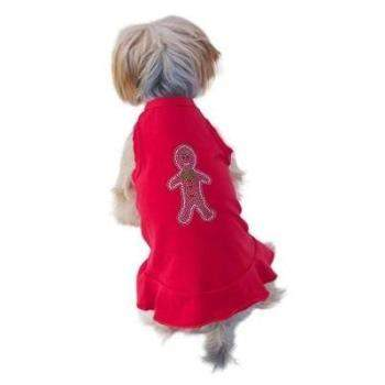 The Dog Squad Gingerbread Red Christmas Dog Dress-Paws & Purrs Barkery & Boutique