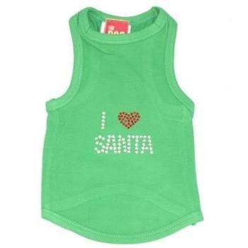 The Dog Squad I Love Santa Green Christmas Dog Tank-Paws & Purrs Barkery & Boutique