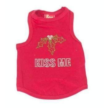 The Dog Squad Kiss Me Red Christmas Dog T-Shirt-Paws & Purrs Barkery & Boutique