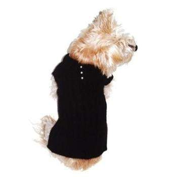 Dog Squad Preppy Angora Blend Black Polo Dog Sweater-Paws & Purrs Barkery & Boutique